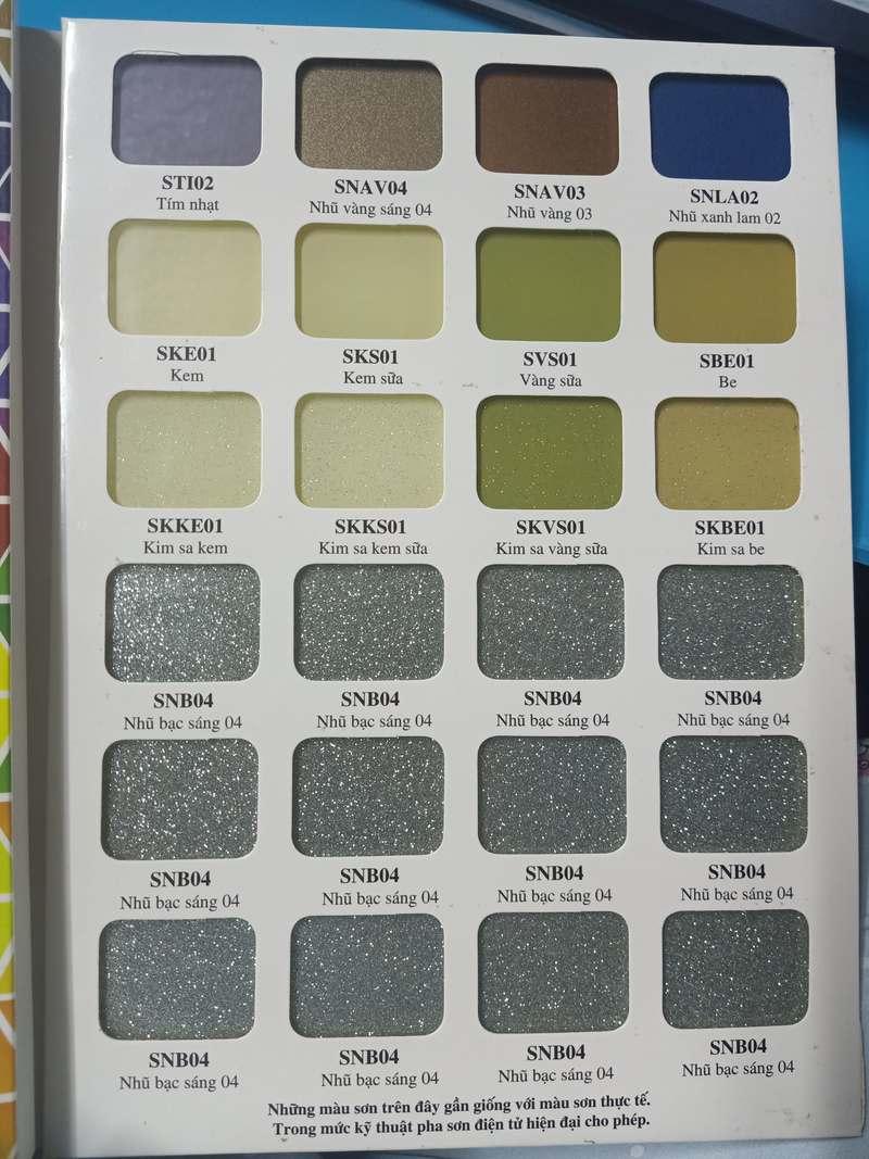 Bảng Màu Kính ốp bếp (Bìa 4)