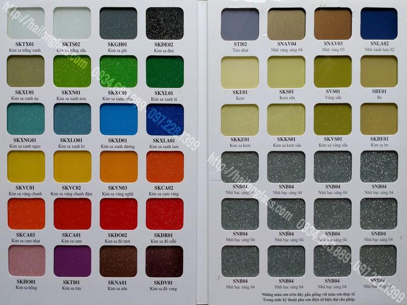 Bảng màu kính sơn chuẩn nhà máy VSG - HAILONG (Temper Color) - Bìa 2