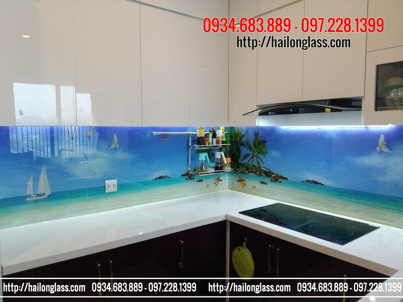 Kính ốp bếp 3D Mã B102