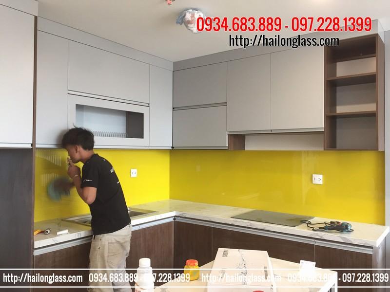 Báo Gía Kính Ốp Bếp Màu Vàng chanh