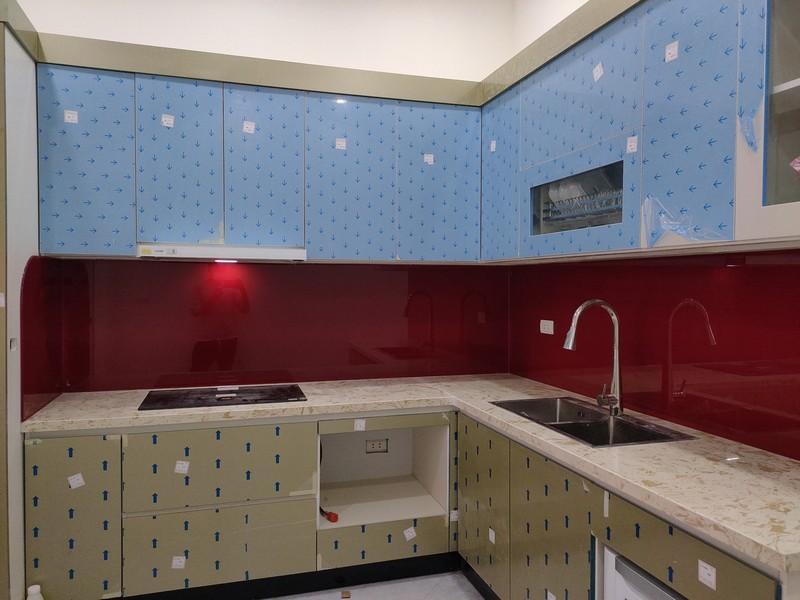 Kính Chịu Nhiệt Nhà Bếp Màu Đỏ Ruby