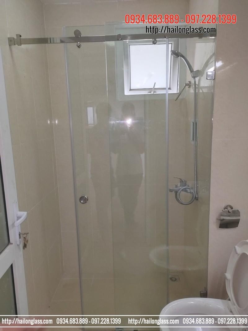 """Kính Cabin phòng Tắm cửa Lùa 10""""30 Phụ Kiện VVP304"""