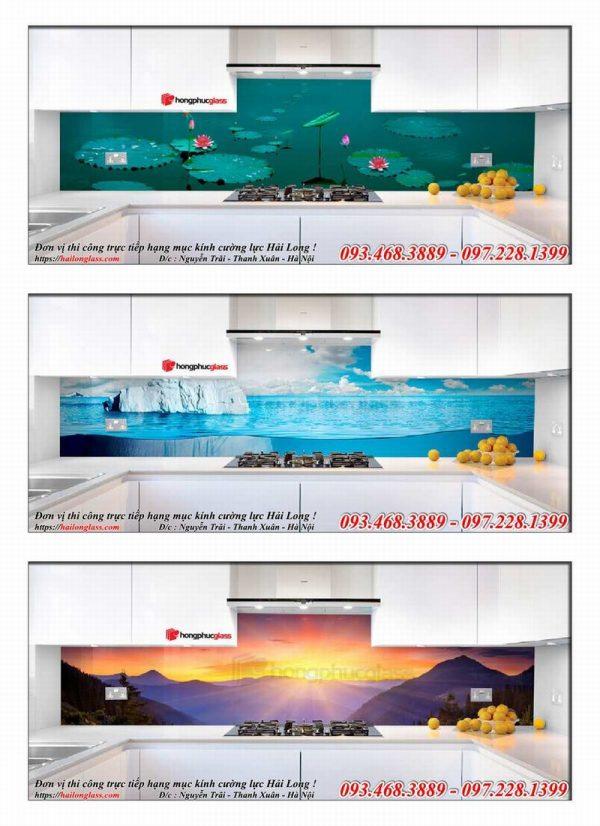 Kính Ốp Bếp - In UV Hồng Phúc
