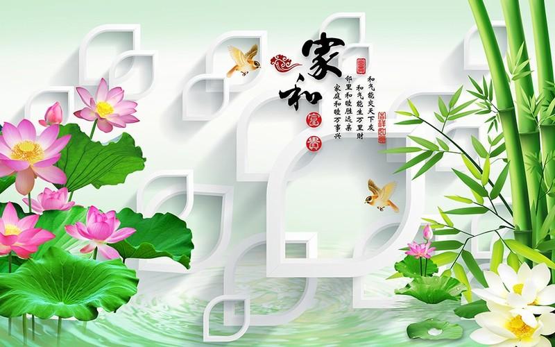 Tranh kính hình hoa sen 2