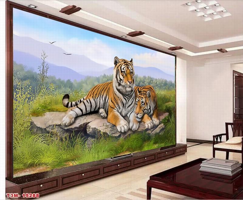 Tranh kính cường lực 3D in hình con hổ