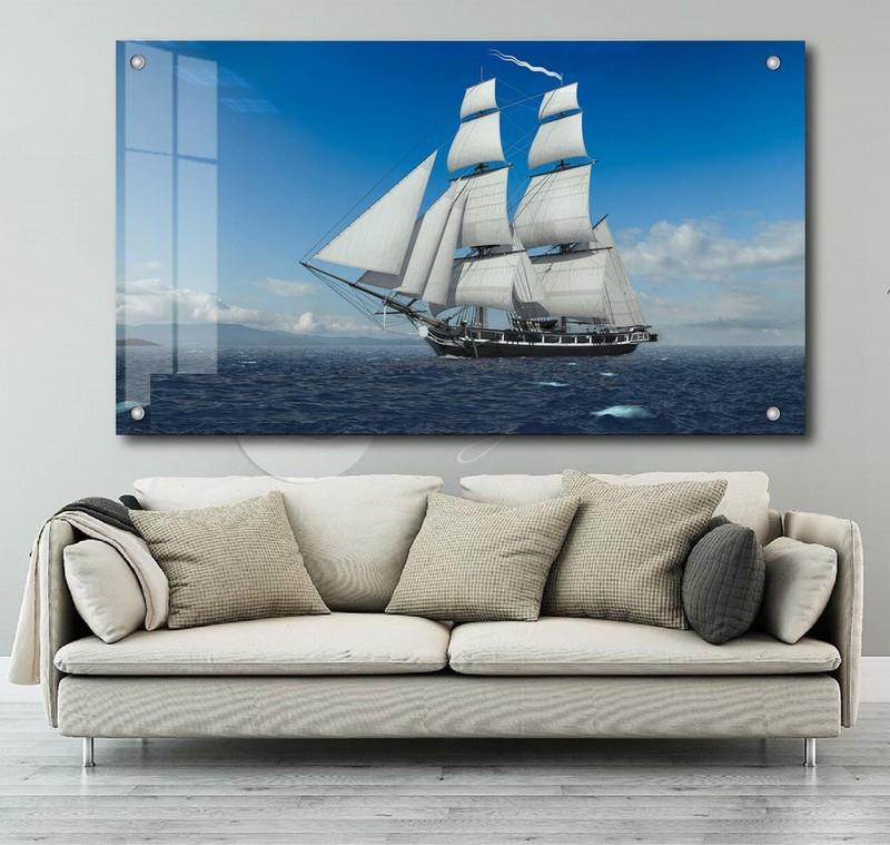 Tranh Kính 3D thuận buồm xuôi gió