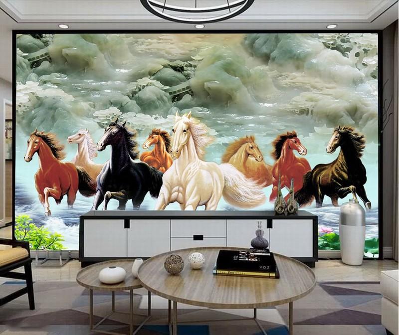Tranh Kính 3D hình con ngựa