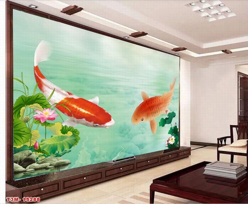 Tranh kính 3D hình cá chép