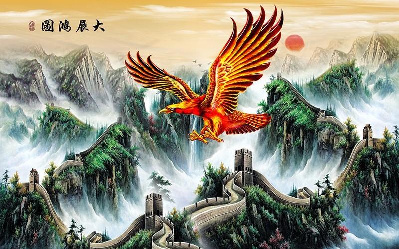 Tranh Kính 3D hình chim đại bàng