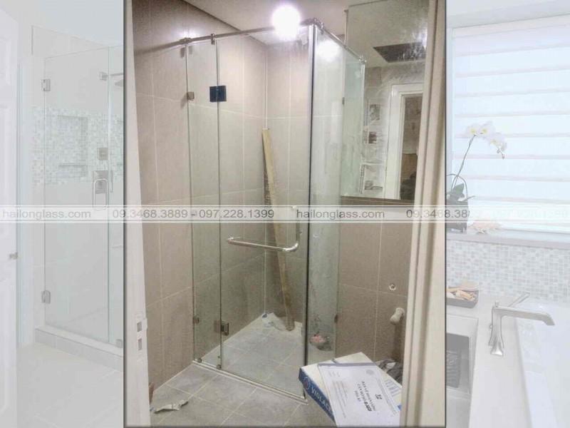Cabin phòng tắm cửa mở 90 độ
