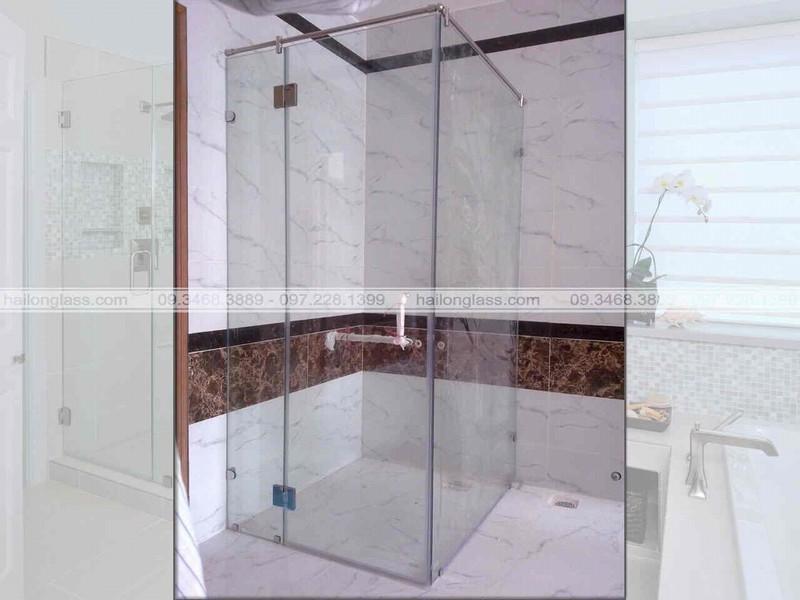 Mẫu cabin tắm kính vuông góc