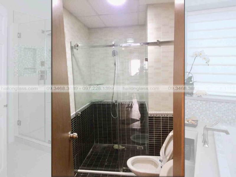 Cabin phòng tắm kính cửa lùa trượt treo 10x30