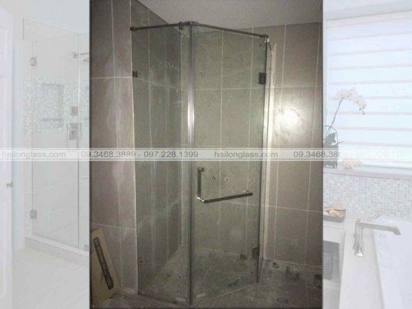 Cabin phòng tắm cửa mở 135 độ