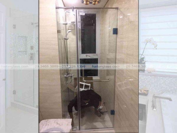 Cabin phòng tắm cửa mở 180 độ
