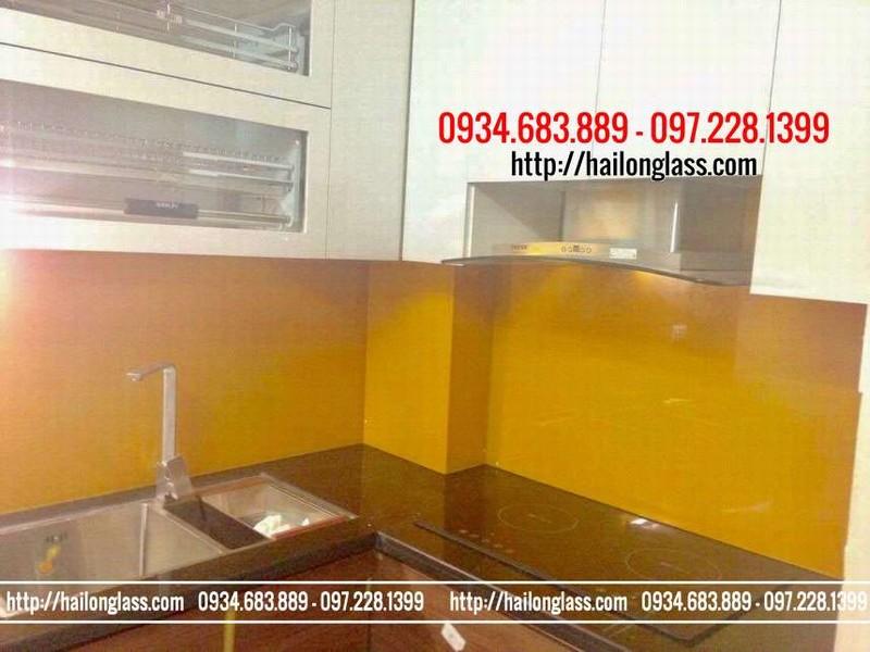 Báo giá Kính ốp bếp Màu Vàng Thư lắp đặt tại Thụy Khuê - Hà Nội