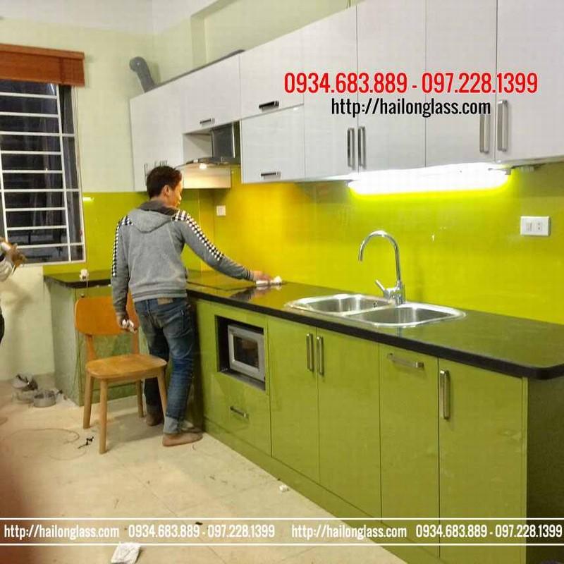 Báo Giá Lắp đặt Kính ốp bếp màu vàng chanh Tại Tân Mai - Hà Nội