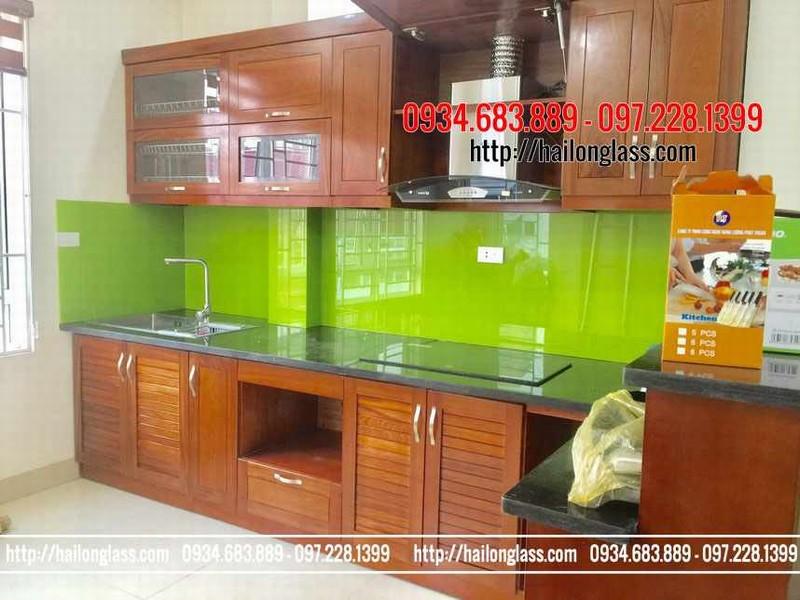 Báo Giá Kính Ốp Bếp Màu Xanh Non lắp đặt tại Vĩnh Hoàng - Hoàng Mai - Hà Nội