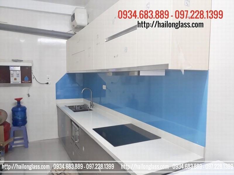 Nhà bếp đẹp màu xanh dương