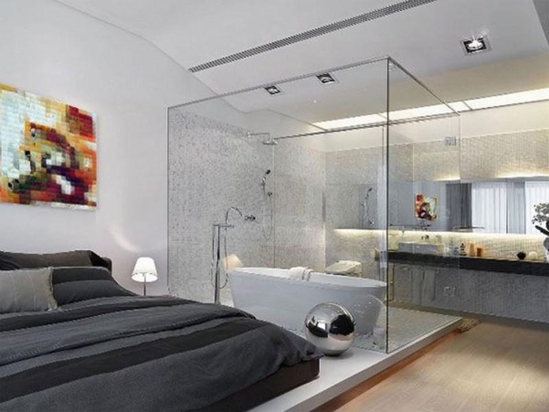 Phòng tắm kính đẹp cho phòng ngủ