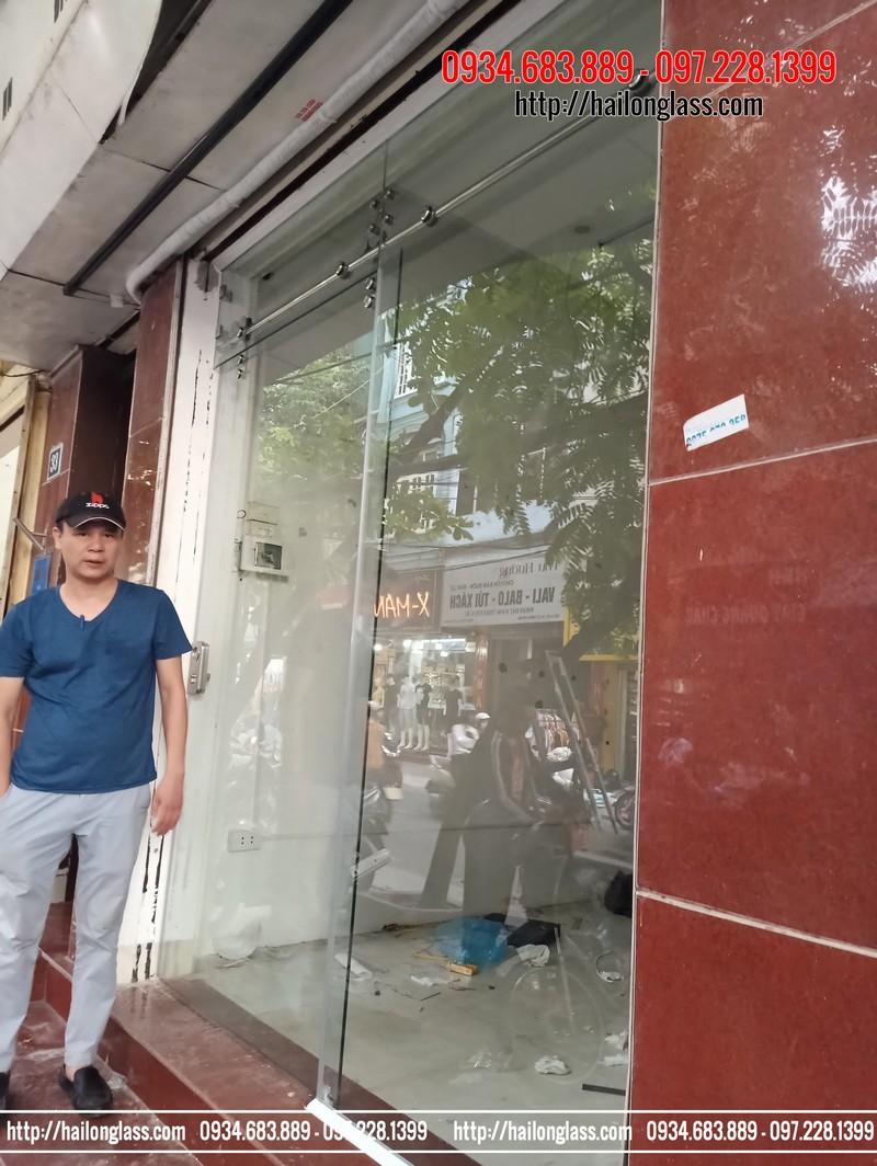 Cửa Kính lùa bi treo Thi Công tại Thanh Trì